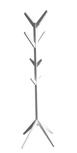 DEUBA® Garderobenständer Kleiderständer Standgarderobe Garderobe Schwarz Weiß