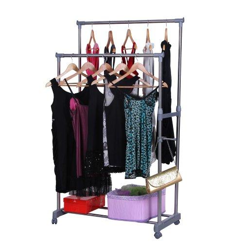 Kleiderständer auf Rollen fahrbar & rollbar