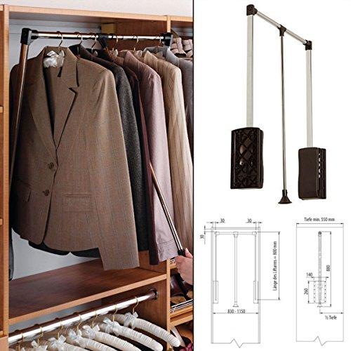 Kleiderständer Wandmontage kleiderstange z b ausziehbar zur wandmontage
