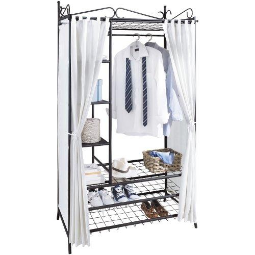 Ikea Kleiderschrank Schwarz Metall ~ Kleiderschrank Breezy inklusive Schuhablage, mit Metallgestell und