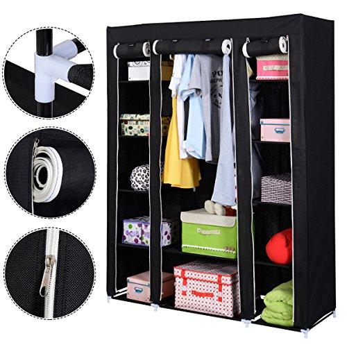 Kleiderst nder mit h lle schutzh lle oder stoffbezug for Garderobenschrank schwarz