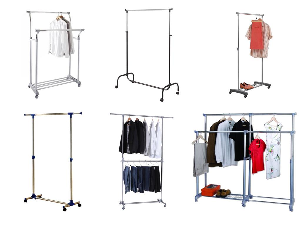 Kleiderständer mit Rollen