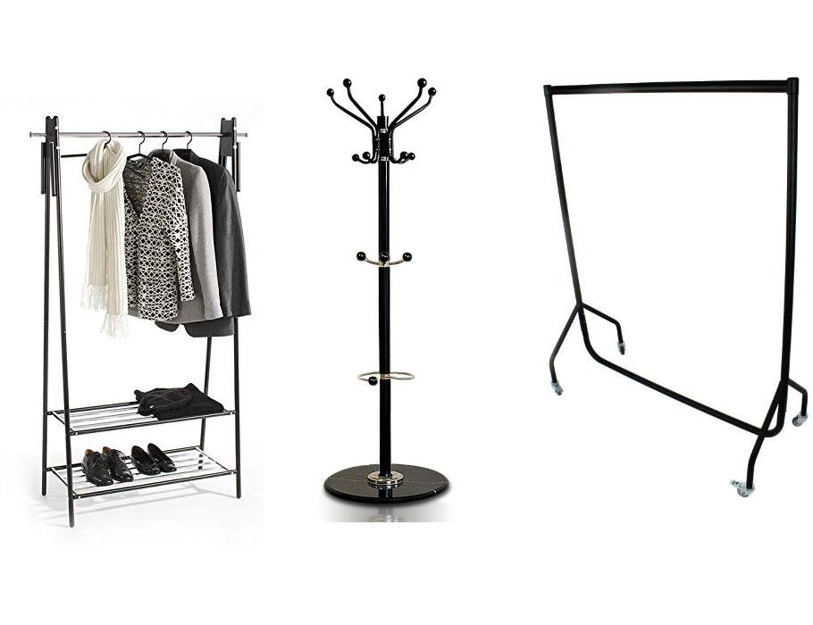 besonderer kleiderst nder schwarz f r flur diele oder schlafzimmer. Black Bedroom Furniture Sets. Home Design Ideas